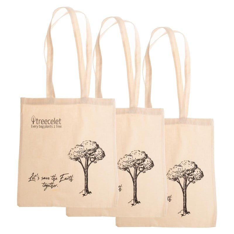 3 Pack Cotton Bag = 3 Trees