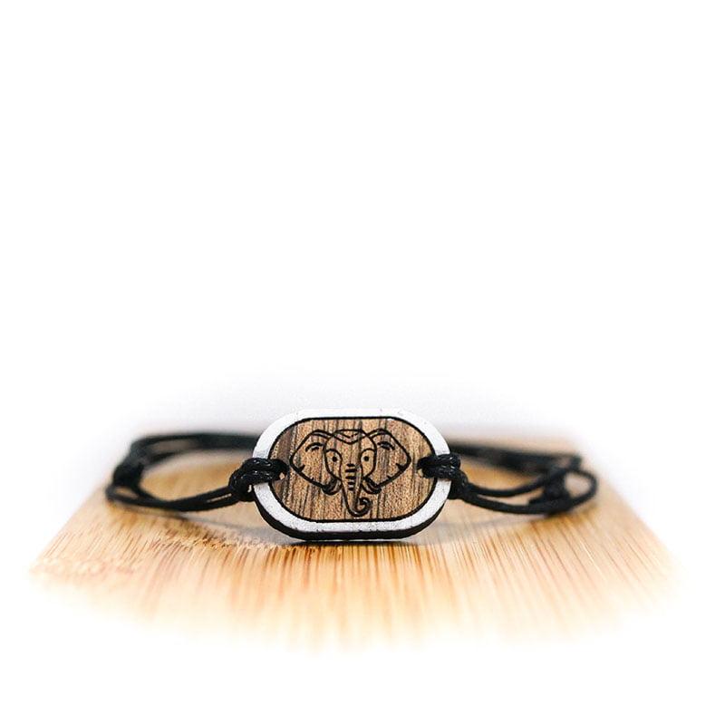 Elephant Bracelet made of recycled wood